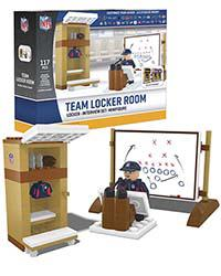 Team Locker Room National Football League 117pc Building Set