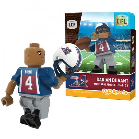#4 Darian Durant Montreal Alouettes Home Version