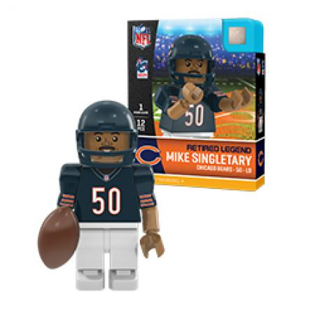 #50 Mike Singletray Chicago Bears Retired Legend