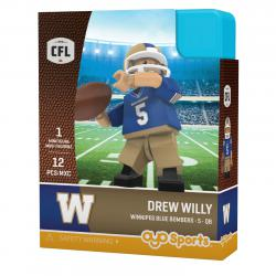 #5 Drew Willy Winnipeg Blue Bombers Home Version