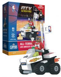 ATV with Super Fan Los Angeles Clippers 85pc Building Block Set