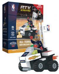 ATV with Super Fan New Orleans Pelicans 85pc Building Block Set