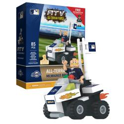 ATV with Mascot  Milwaukee Brewers 85pc Building Block Set