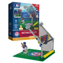 Batting Cage Set Texas Rangers 59pc Building Block Set